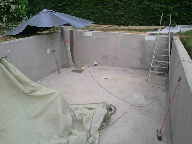 Radier piscine for Enduit etancheite piscine