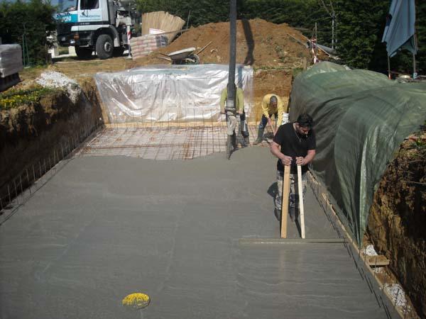 Radier piscine for Radier piscine beton